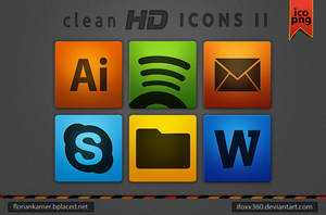 clean HD Icon Pack II by iFoXx360