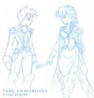 Hilde and Relena--Sank Uniform by askerian
