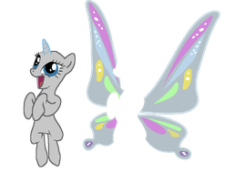 MLP 'I HAVE WINGS!' Base by pinay4life001