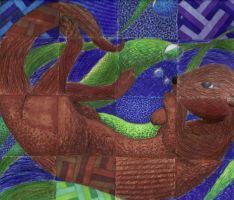 Otter Texture Checkerboard by Cour-cour