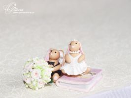 The bride and groom by OrionaJewelry