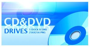 cd and dvd icons by mustafahaydar