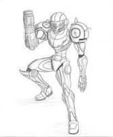 samus drawing by Monsterofthesea