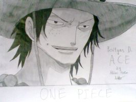 Ace - One Piece by halloffamer02
