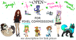 Open For PIXEL Commissions! by CreativeCorpse