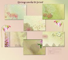 Spring  cards to print by libidules