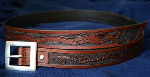 Leather belt by Zidra