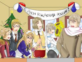 Russia's Birthday Party by karina-de-silva