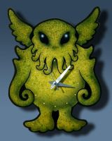CTHULHU WALL CLOCK by thebiscuitboy