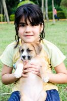 Girl and Puppy by dargor1406