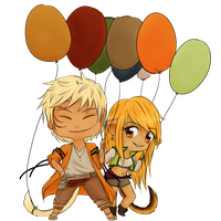 Dorks with Balloons by k-o-j-i