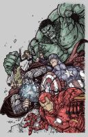 AVENGERS ASSEMBLE colors by CThompsonArt