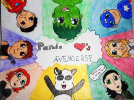 Panda Loves Avengers!!!!! by AbbyCatWolff
