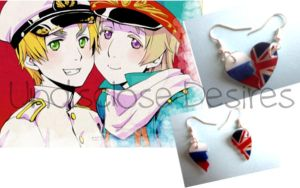 APH - Russia x England - Half Heart Earrings by Undisclose--Desires