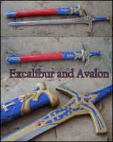 Caliburn and Avalon by Aoime