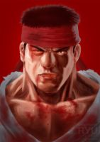 Ryu Streetfighter After Match by glowingblue