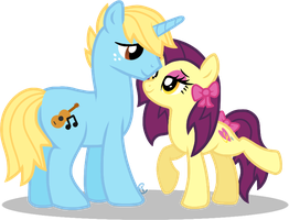 OC Overhaul: Melody and Ribbon by equinepalette
