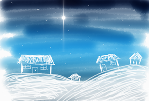 Christmas Sketchy Village by LadyLovelace
