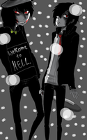 Jeff The Killer and Mikael-Welcome To Hell by MikaelBratLoni