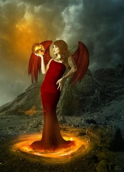 Angel In Hell by maiarcita