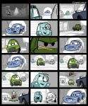 Cars 2 Video Game Storyboards by toonbaboon