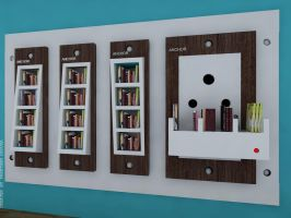 Book storage unit - concept switch board +switches by creativegenie