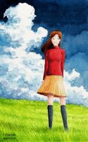 A Girl in the Grassland by cocon