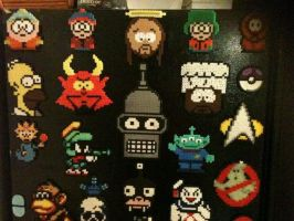 Perler Bead Creations Southpark Simpsons Futurama by Rhys-Michael