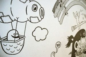 Studio Pats Mural, detail 3 by stingerstyler