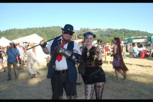 SteamPunk Duo. by FallMoonlitRose