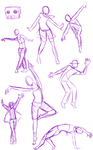Dancing poses by Cobean