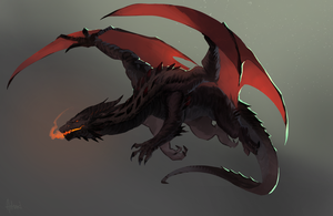 Male Dragon by Artsed