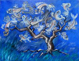 Fish Tree by nellems