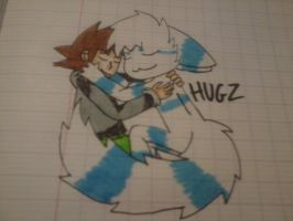 steve thunder and nocti (hug) by BastienLink