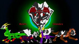 Malefic Tag Team by silver-wing-mk2