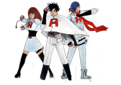 me and my mates as team rocket by adamero
