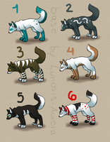 Chibi wolf adopts :D -CLOSED- by WolfWhisperer4Life