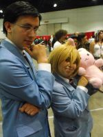 Kyouya and Honey Cosplay Duo by SuperSonicHero10