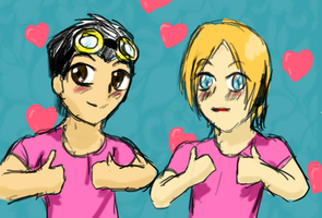 For we have pink shirts :D by LightShappy