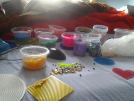 My bed full of hama by Nenetchy