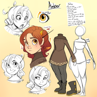 Amber Character Sheet by strawberryneko33