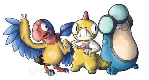 Pokemon 5th gen group art1 by Weyard