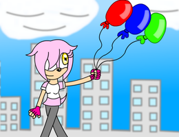 PRIZE Balloons In The Big City by LillyTheSeedrian