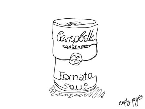 One line drawing of a can of soup by empty-pages-14