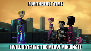The Meow Mix Jingle by thekirbykrisis