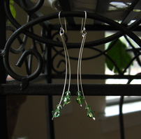 Curved Drop Earrings by mrskupe