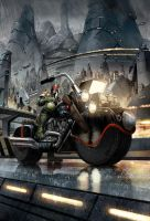 Judge dredd year one cover one by ryanbrown-colour