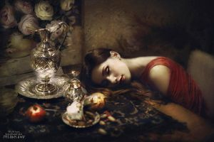 silver sleep and pomegranate flower by kemal-kamil-akca