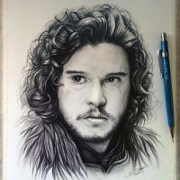 Jon Snow Drawing - Game of Thrones by LethalChris