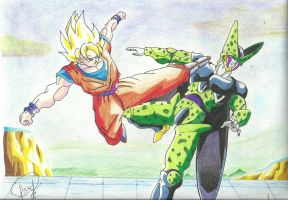GOKU vS. CELL by J-S-S-C